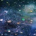 写真: 水面 に浮かぶ銀河宇宙