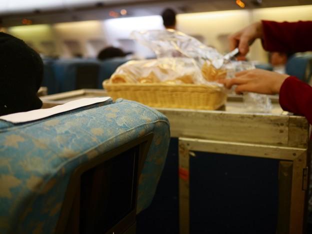 ベトナム航空の機内、ホーチミン→関空