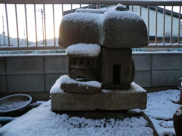 雪化粧-古民家-