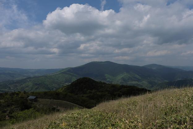 写真: 新緑の中国山地にて