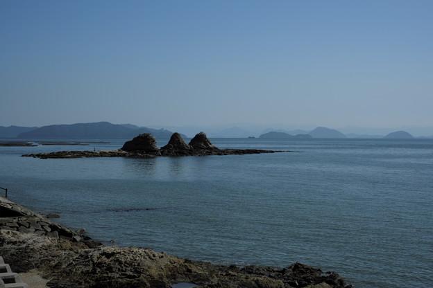 瀬戸内の風景(寄島より三ッ山を)