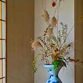 和風カフェの粋な活け花