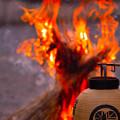写真: 迎え火