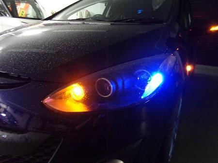 デミオ 埼玉県 フロントウインカー2色LED オレンジ