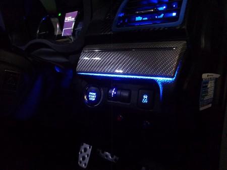 レヴォーグ 間接照明 運転席側