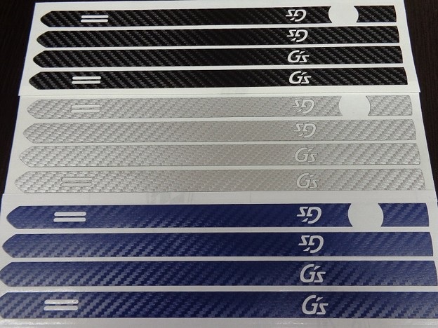 写真: プリウス50 カーボンシート ドアハンドル G'sロゴ