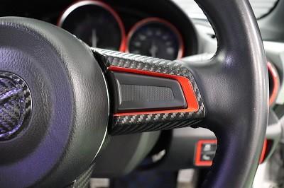 ロードスター 赤シート&カーボンシート貼り込み
