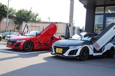 S660 愛知県 ガルウイング取付 デモカー