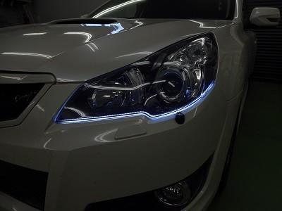 レガシィBR9 シーケンシャルウインカー取付 ホワイト