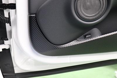 スープラ90 ドアパネル傷防止カーボンシート 貼り込み