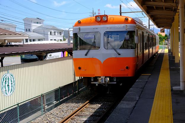 新島々駅の団体専用列車