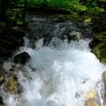 梓川の流れは速い