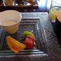 写真: 6デザートりんごジュースと珈琲も