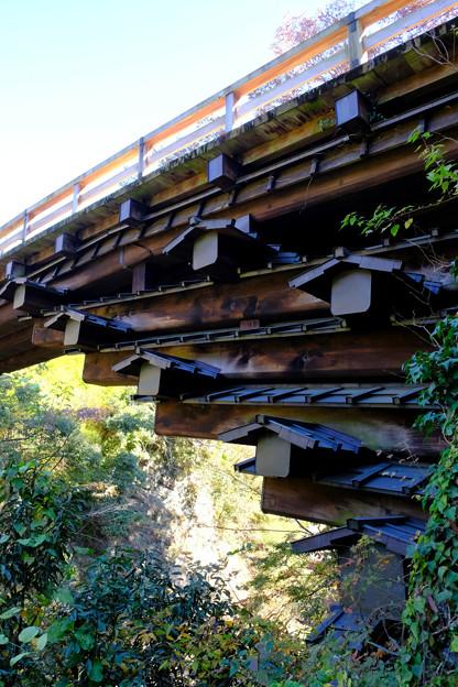 猿橋の橋げた