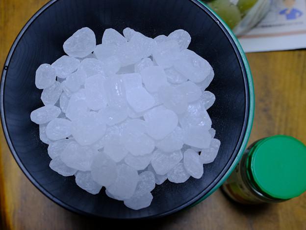 青梅と同量の氷砂糖