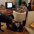 Photos: ロミと戯れる次男