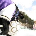 Photos: 太陽と雪とサッカー