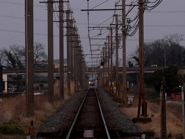 走り去る電車