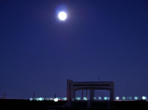 朝霞水門と幸魂大橋