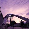 写真: 夕暮れ~歩行者自転車専用橋