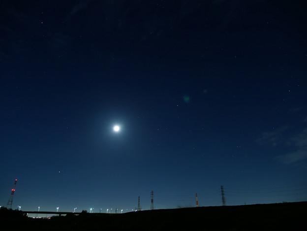 写真: 火星、月、土星、いて座など