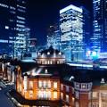 写真: Tokyo Station夜のドレスアップ