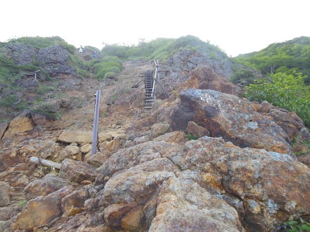夏登山 赤岳5 鉄階段