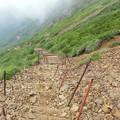 夏登山 赤岳10 文三郎道 階段