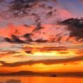 マニラ湾今日の小焼け