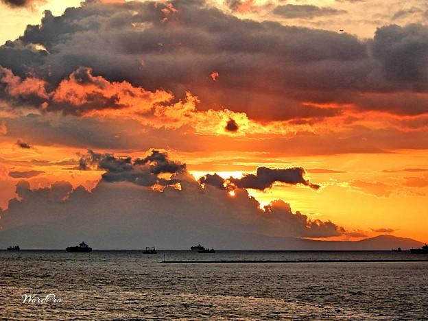 Sunset today at Manila Bay