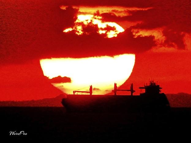 マニラ湾の夕陽
