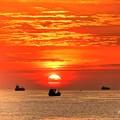 Photos: マニラ湾今日の夕陽