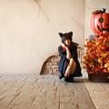 写真: 南瓜のおまわりさん