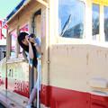 写真: 鉄道女子