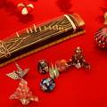 琴、折紙、七宝まり…