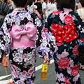 Photos: 仲良し浴衣女子