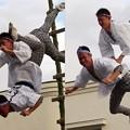 Photos: 夏の夕暮れの梯子乗り -d