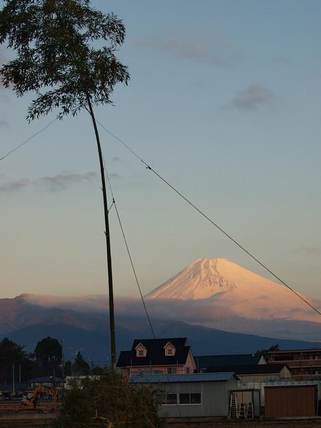 富士のお山と共に、どんど焼き♪