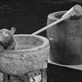 Photos: 石臼と木臼