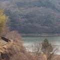 湖畔を歩む