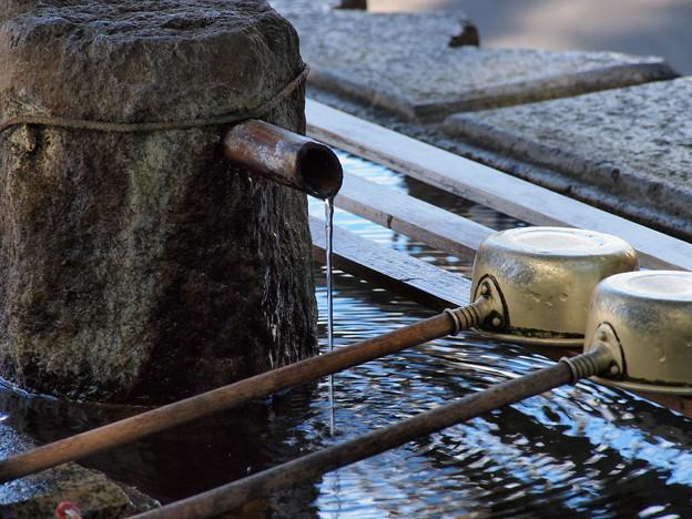 湧き出る浄めの水