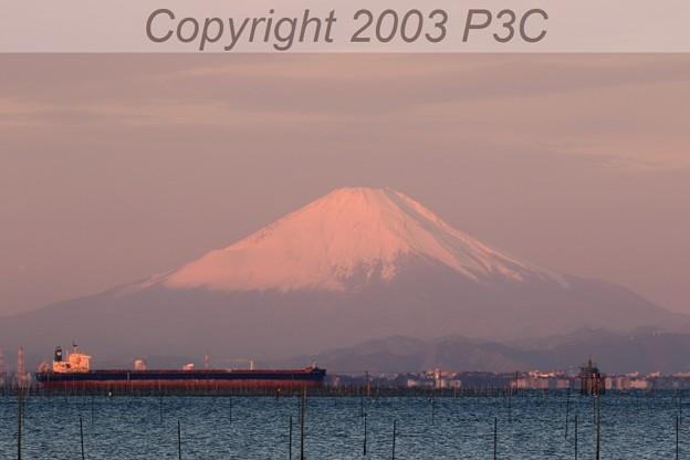 赤富士(中景)