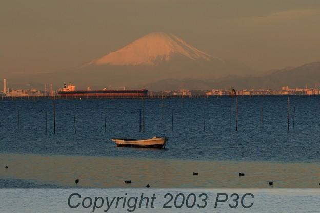 赤富士(遠景)