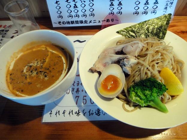 アメリケーヌつけ麺・大盛り(1.5玉)@はぐるま・大分市