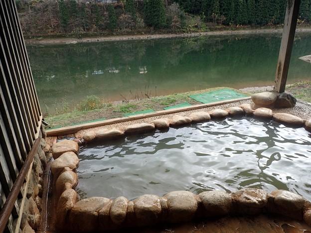 早戸温泉 つるの湯・露天風呂@福島県三島町