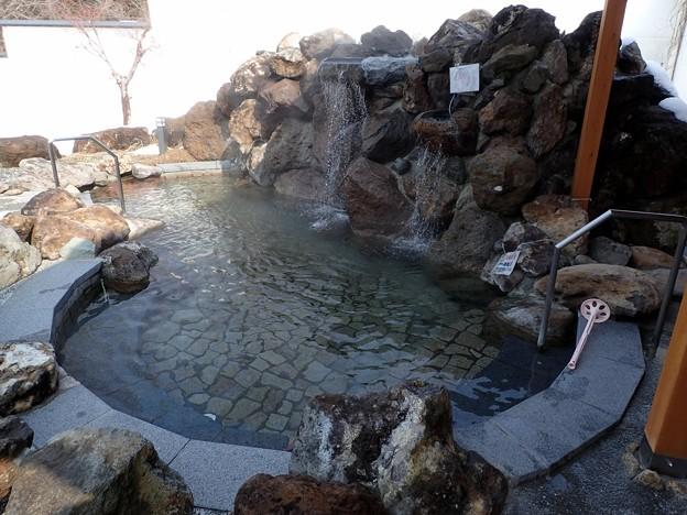 西山温泉 せいざん荘・露天風呂@福島県柳津町