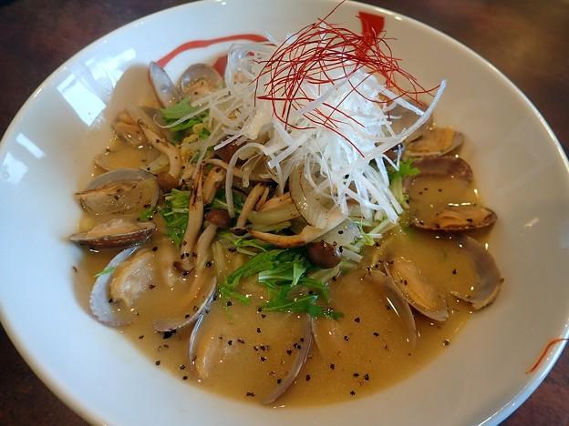 ボンゴレ・ビアンコ・中細麺@維風堂々・盛岡市