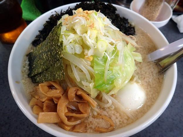 復刻ラーメン+野菜+岩のり@ハッスルラーメンホンマ亀戸本店・江東区亀戸