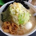 Photos: 復刻ラーメン+野菜+岩のり@ハッスルラーメンホンマ亀戸本店・江東区亀戸