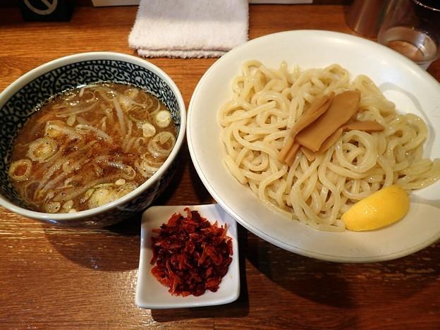 つけ麺・大盛+海老辛味@いわ田・岡山市北区